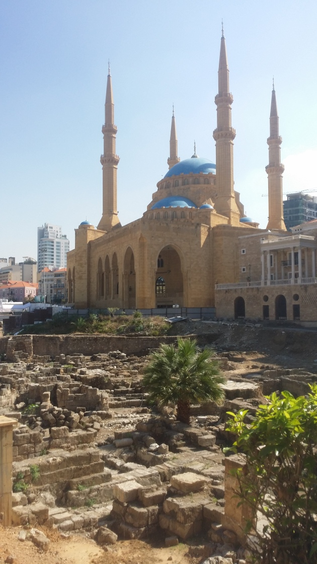 Roman bath ruins and the famous Mohammed Al-Amin Mosque